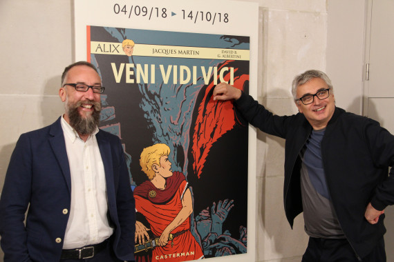 Giorgio Albertini and David B. - © Daniel Fouss/Comics Art Museum test